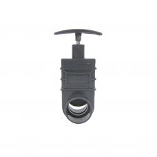 Шиберная заслонка/задвижка для труб, 50 мм